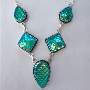 Mermaid glass necklace